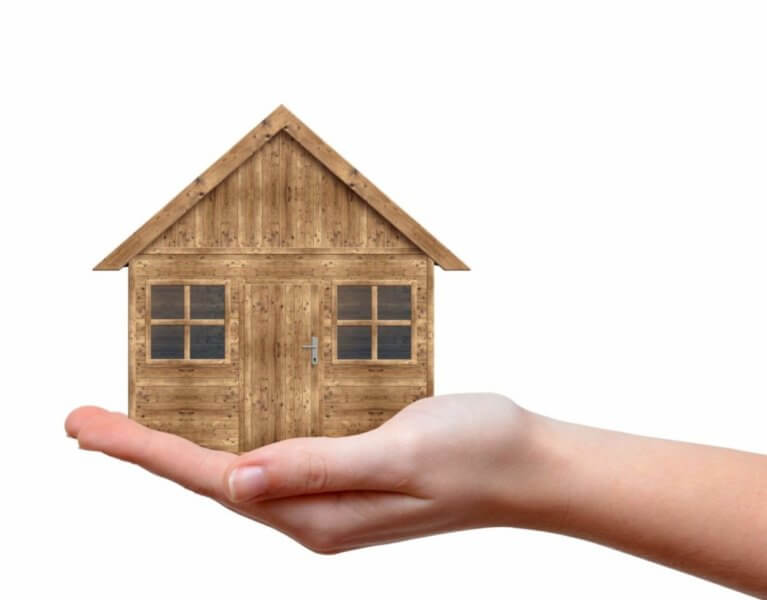 tiny house in hand