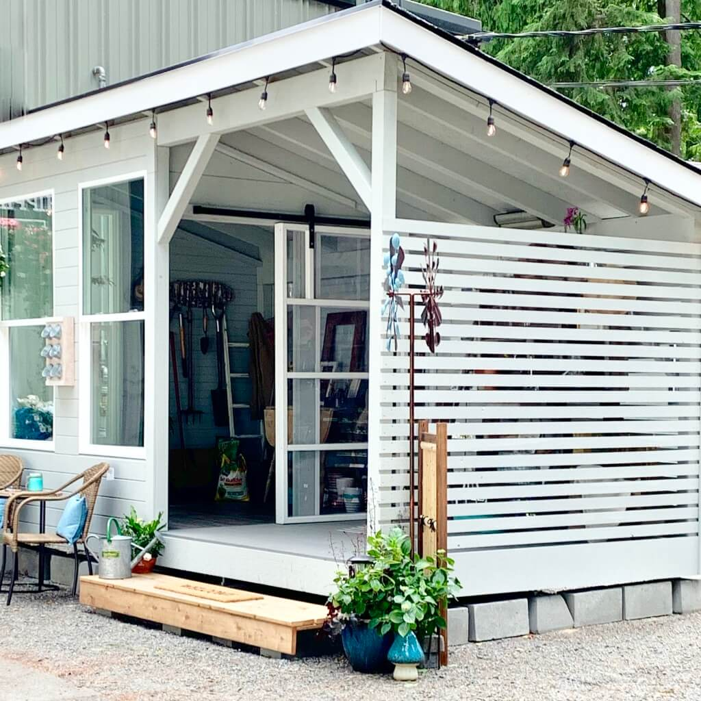 She-shed designed for simplicity.